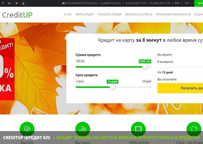 Деньги в кредит на карту онлайн